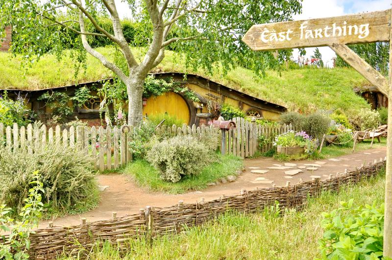 The rebuilt set and cottage for The Hobbit and The Lord of the Rings royalty free stock photography