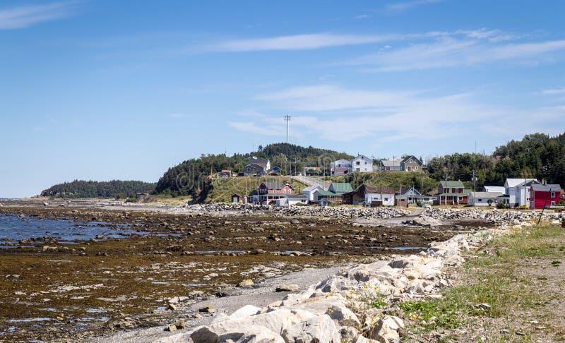 Matane-Hafen-Küstenansicht des Heiligen Lawrence River am Sommer stockbild
