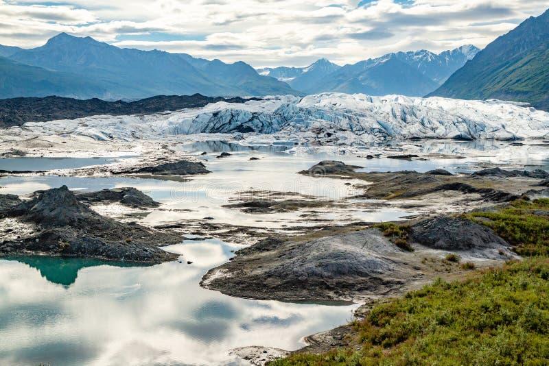 Matanuska Glacier in Alaska, USA. royalty free stock image