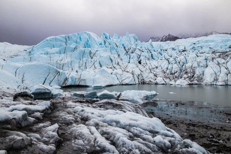 Matanuska lodowiec, Alaska obraz stock