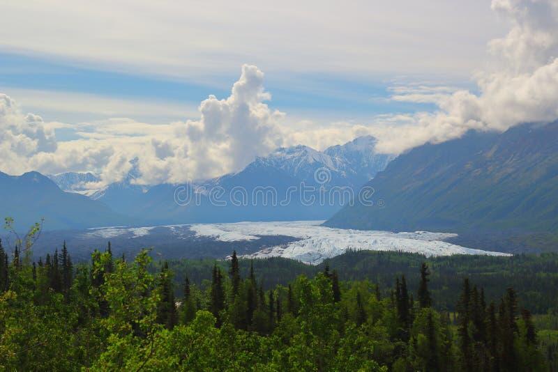 Matanuska lodowiec w Alaska obraz stock