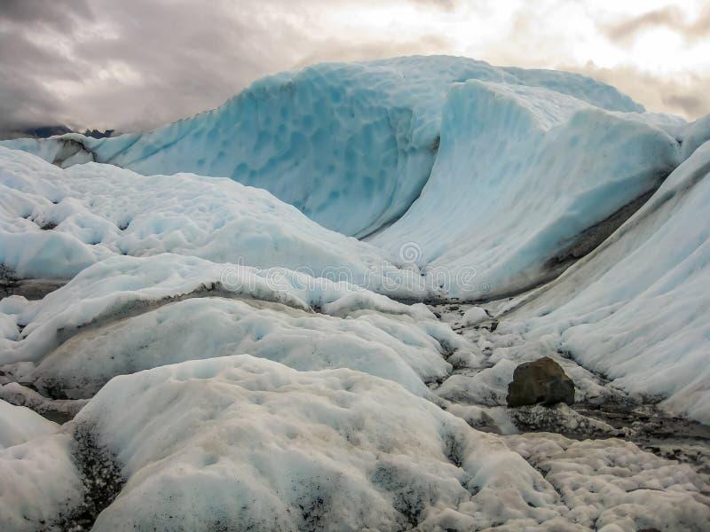 Matanuskagletsjer, Alaska stock foto's