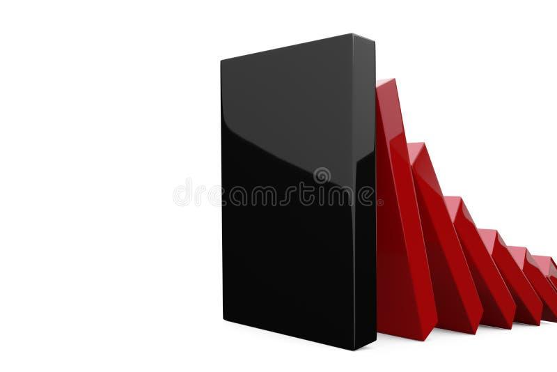 Matanza del dominó ilustración del vector
