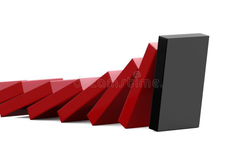 Matanza del dominó stock de ilustración
