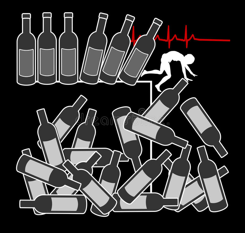 Matanzas del abuso de alcohol libre illustration