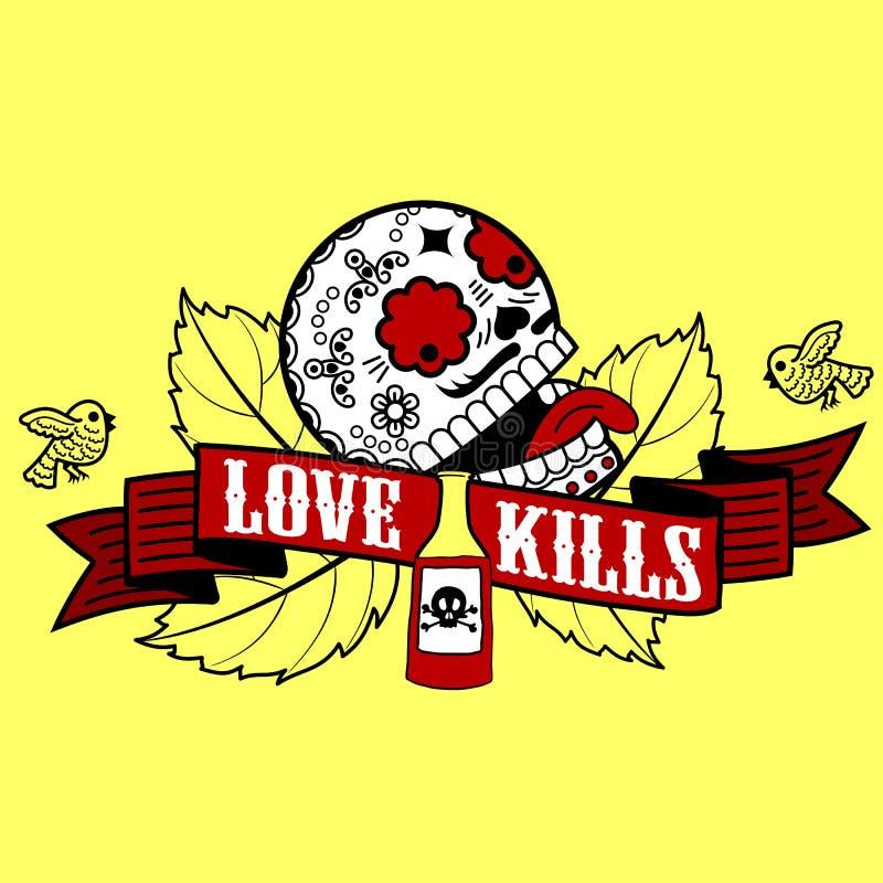 Matanzas del amor stock de ilustración