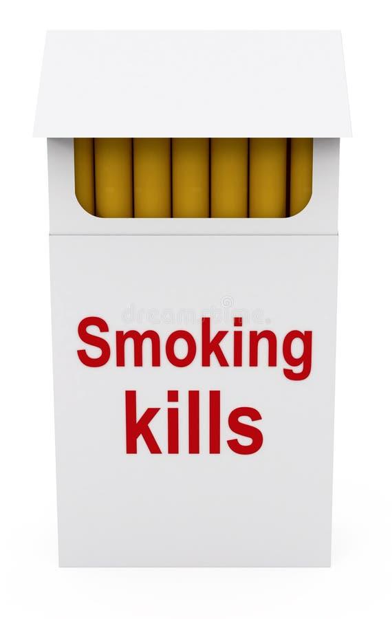 Matanzas que fuman en el paquete de los cigarrillos ilustración del vector
