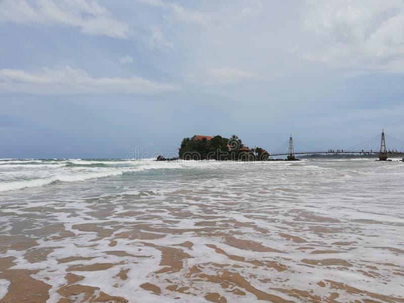 Matara Beach - Sri Lanka. Natural Beaches in Sri Lanka stock image