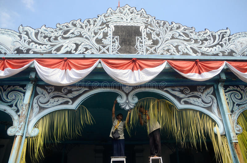 MATARAM CULTURE. Royal courts of Mataram-Surakarta at Solo, Java, Indonesia. The culture of the sixteenth century Mataram Sultanate of Java pretty much dominate stock photography
