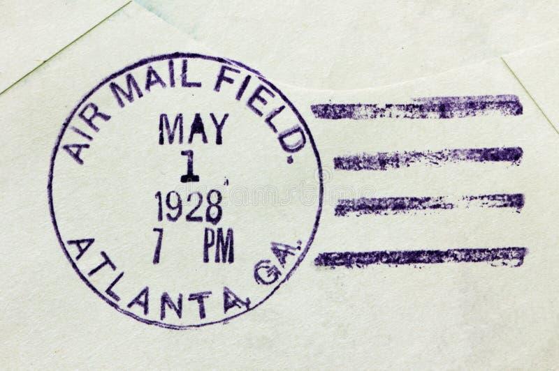 Matasellos del correo aéreo de los E.E.U.U. imagen de archivo