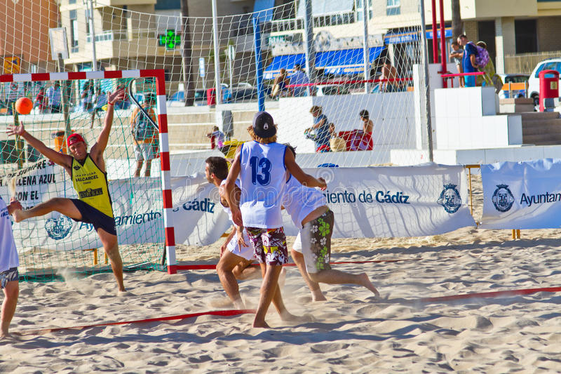 Download Match Of The 19th League Of Beach Handball, Cadiz Editorial Stock Image - Image: 21245609