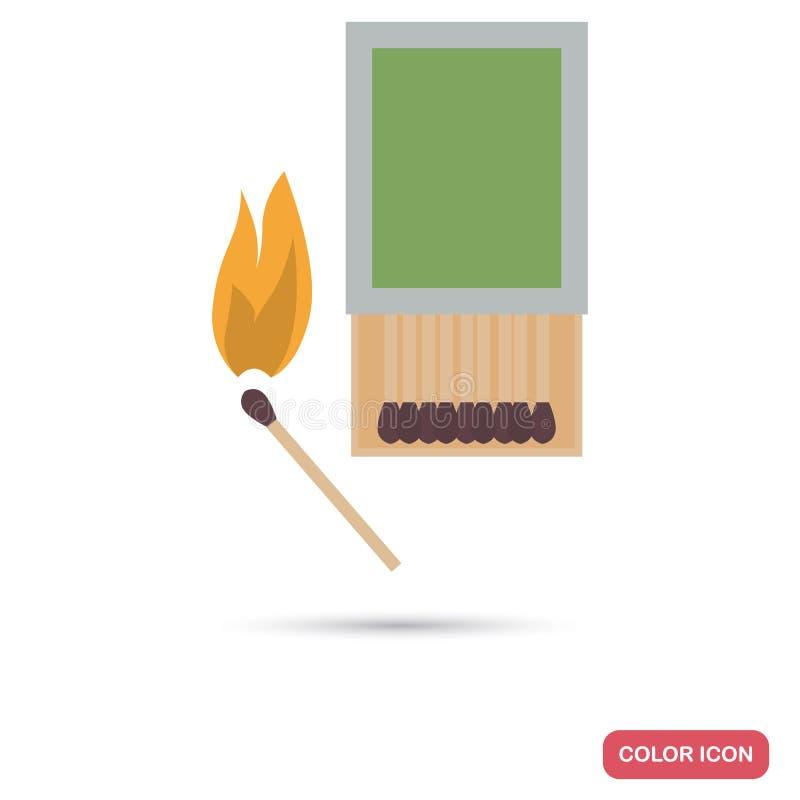 Camping Bonfire Color Flat Icon Stock Vector