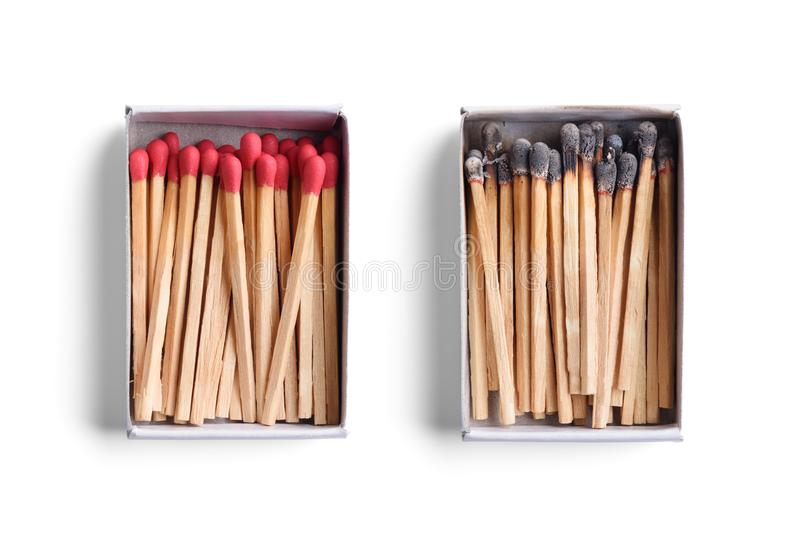 Match boxes royalty free stock photo
