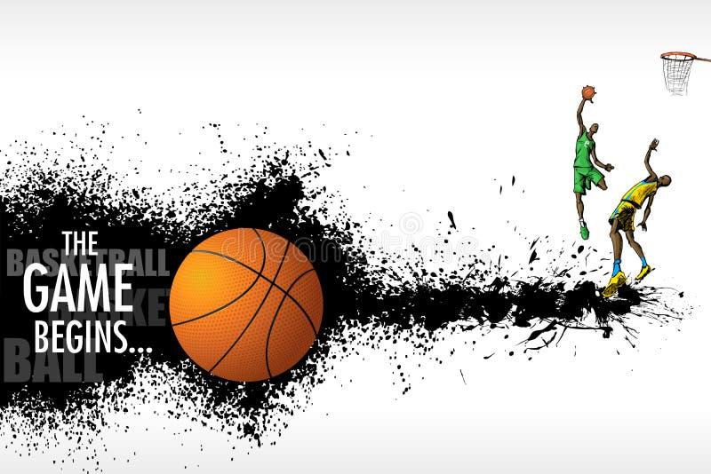 Match de basket illustration de vecteur