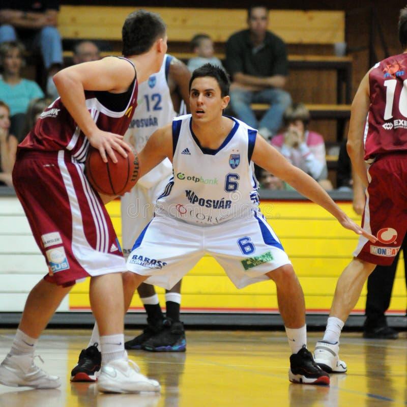 Match de basket de Kaposvar - de Salgotarjan photos libres de droits