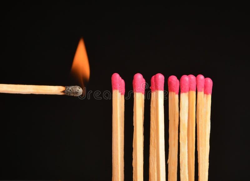 Match de brûlure image libre de droits