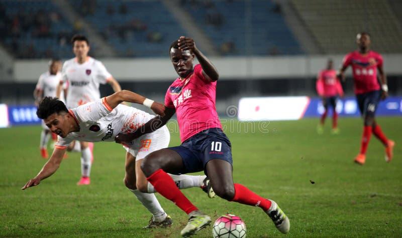 Match de football de Shenzhen, Chine photo stock