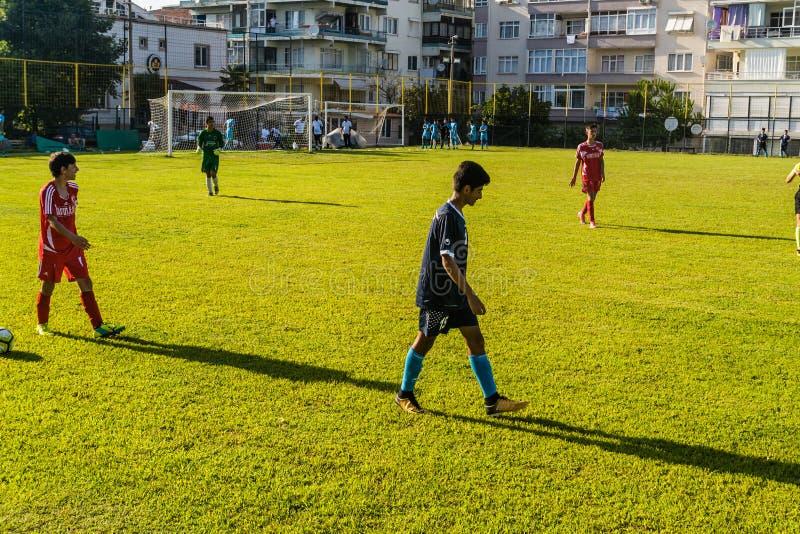 Match de Ligue de Football de lycée photographie stock libre de droits