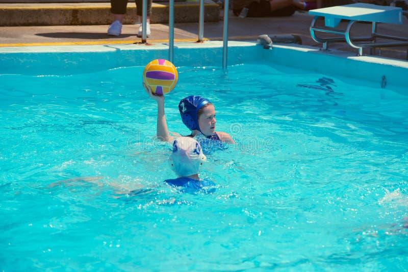 Match de polo d'eau photo libre de droits