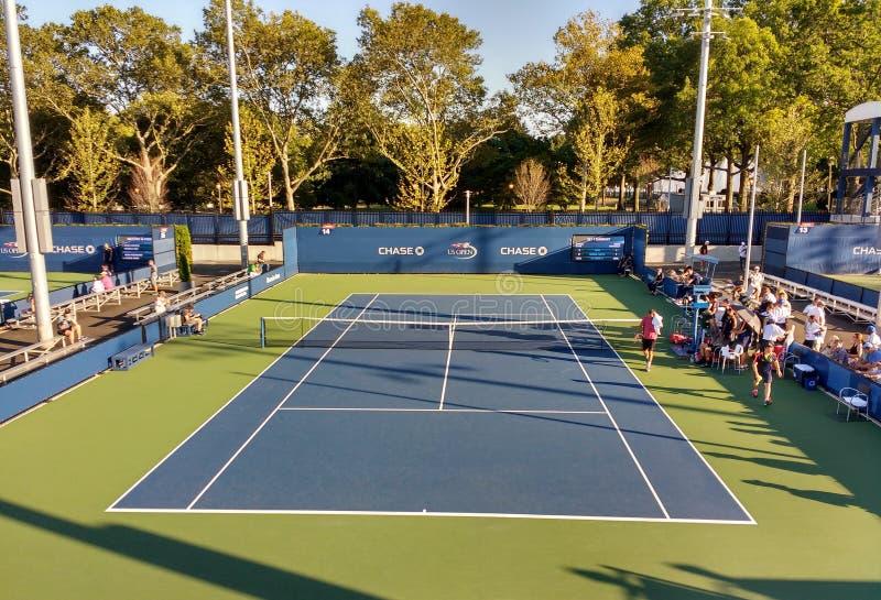 Match de qualification d'US Open, Queens, New York, Etats-Unis image libre de droits