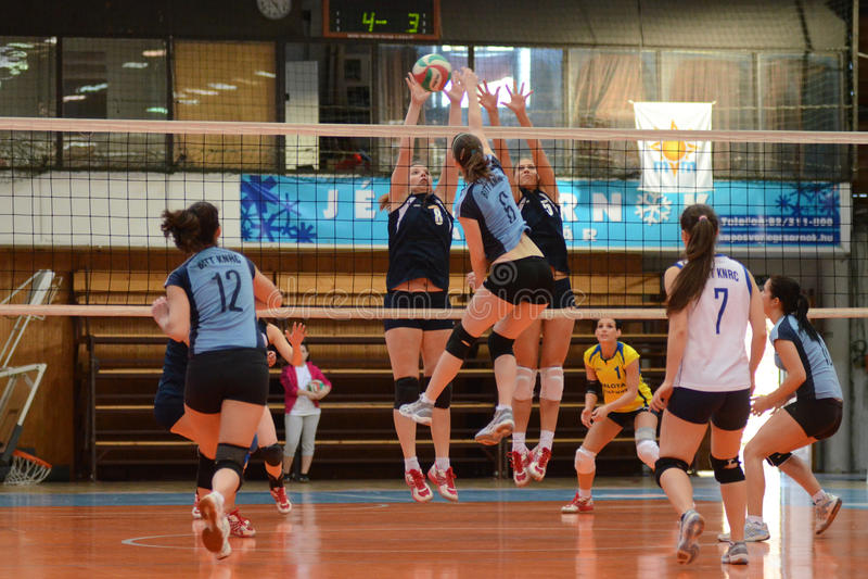 Match de volley de Kaposvar - de Palota image stock