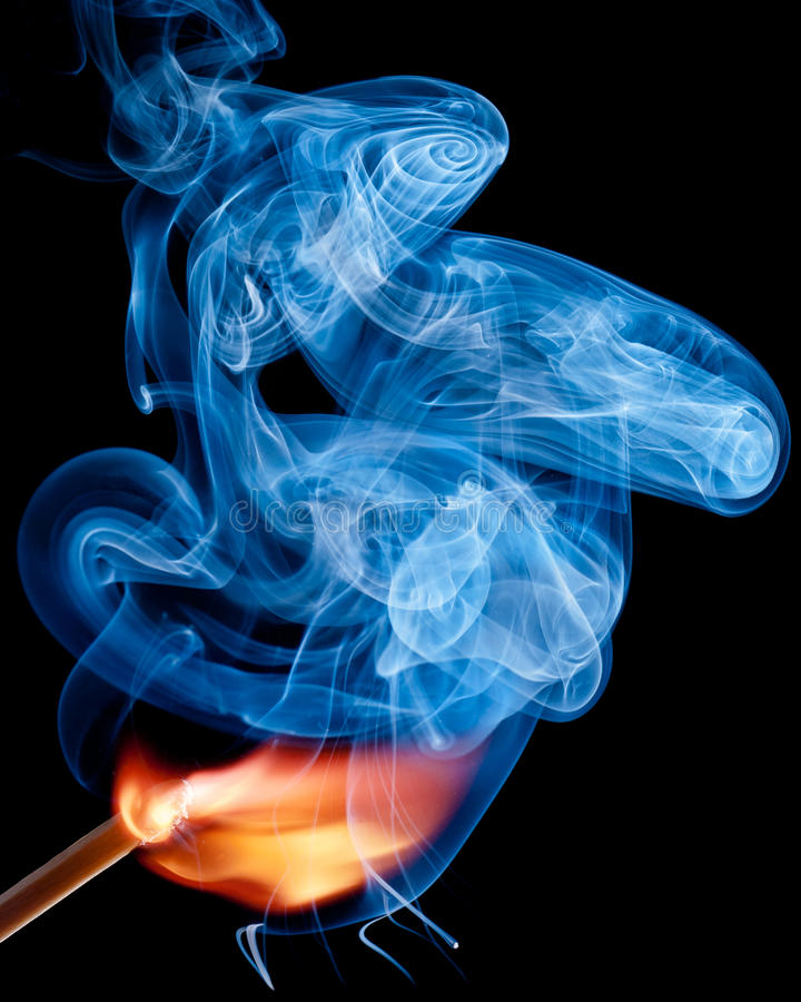 Download A match ignites stock image. Image of blue, flame, macro - 22520135