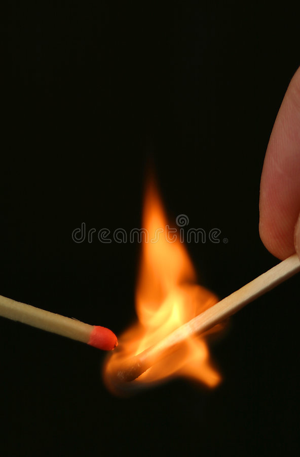 Match ignition royalty free stock photo