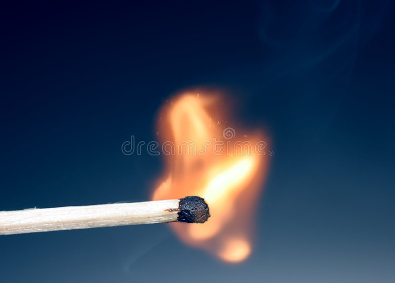 Match just ignited royalty free stock image