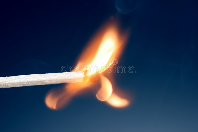 Match just ignited royalty free stock images