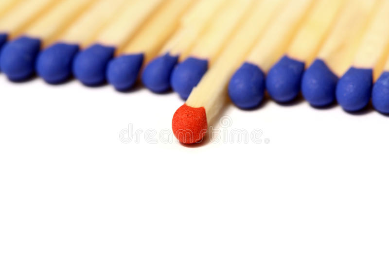 Match leader. With copy space royalty free stock image