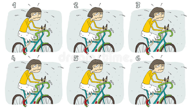 Match Pairs Visual Game: Bike Stock Photo