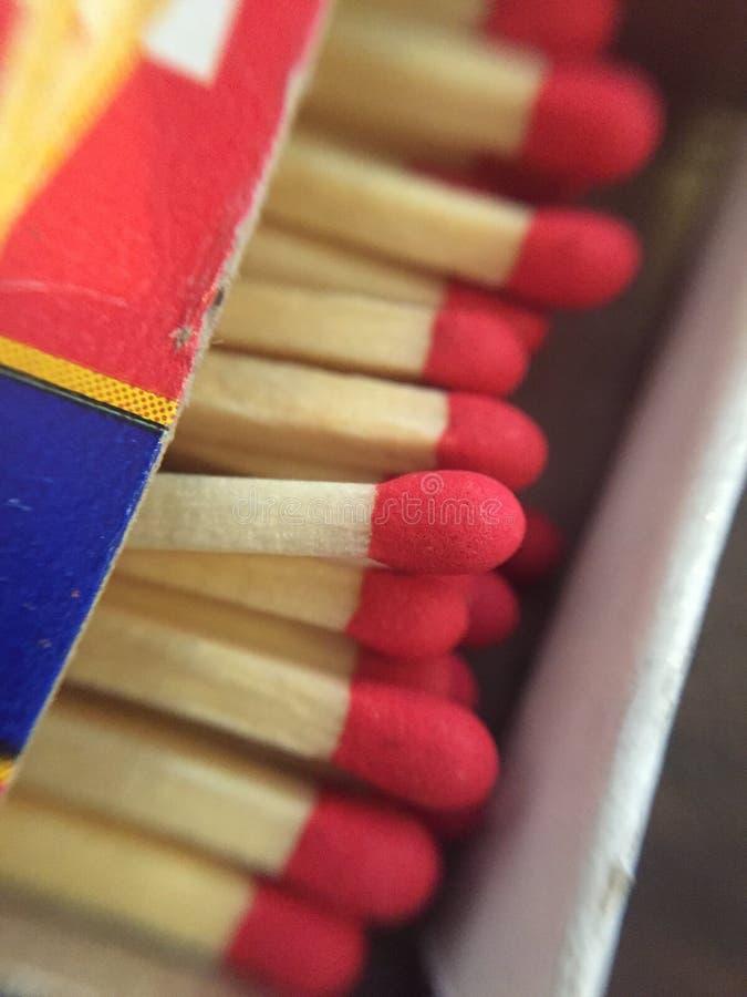 Match stick. Close up of open match stick box stock photos