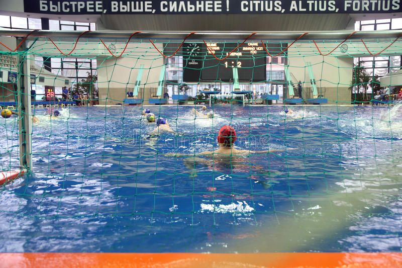 Match of teams Astana and Dynamo on water polo