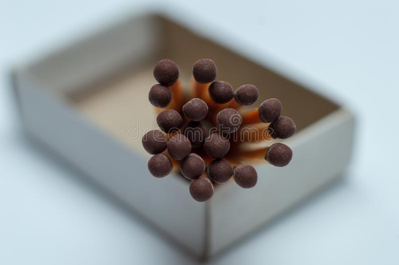 Grouping Matches stick in box stock image