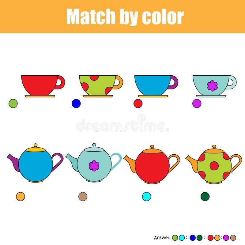 Matcha barn bildande lek, ungeaktivitetsark royaltyfri illustrationer