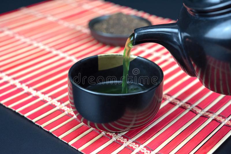 Matcha Ceremonia de té verde orgánica del matcha imagenes de archivo