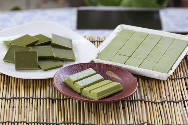 Matcha de thé vert de chocolat de produit photographie stock libre de droits