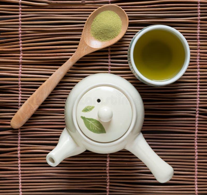 Matcha del té verde imagen de archivo
