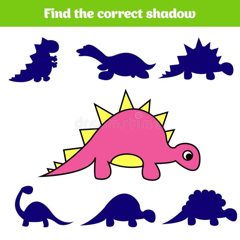 Matcha den bildande leken för barn Matchkrypdelar Fyndsaknadpussel Aktivitet för pre skolårungar dinosaur royaltyfri illustrationer