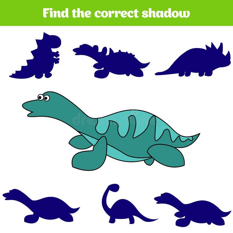 Matcha den bildande leken för barn Matchkrypdelar Fyndsaknadpussel Aktivitet för pre skolårungar dinosaur stock illustrationer