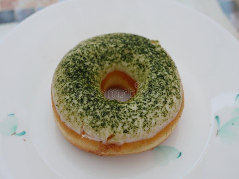 Matcha Donut royalty free stock images