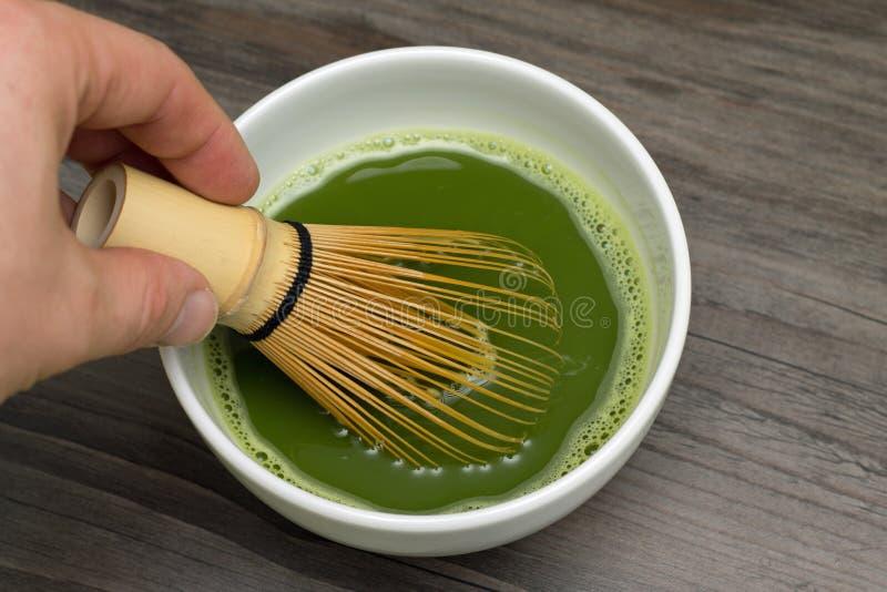 Matcha grönt te fotografering för bildbyråer
