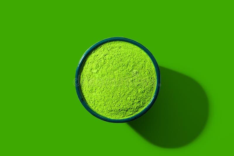 Matcha Green Tea Pop Art Style royalty free stock image