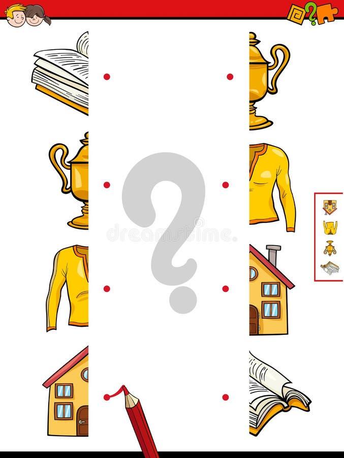 Matcha halvorna av objekt royaltyfri illustrationer