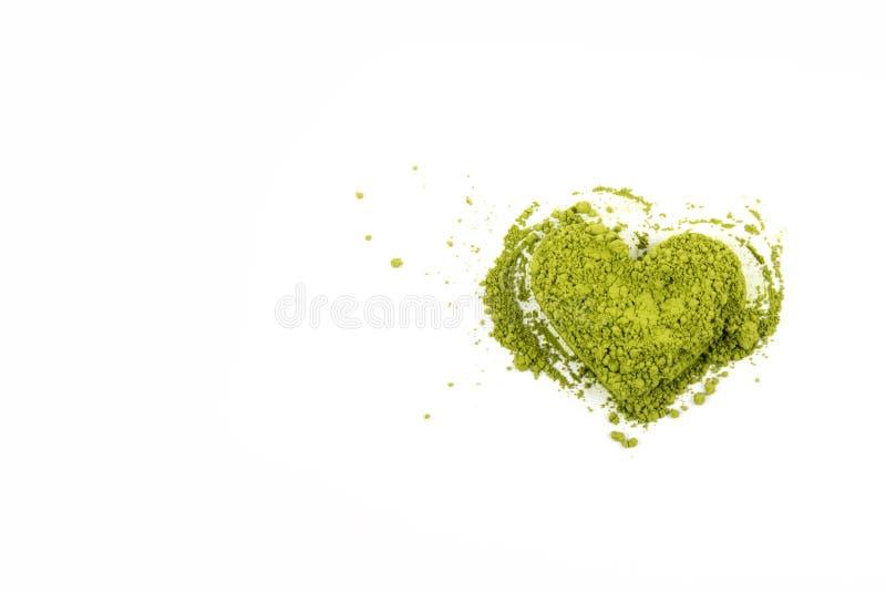 Matcha heart green tea royalty free stock image