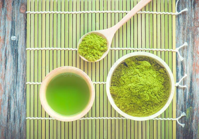 Matcha herbata obraz royalty free