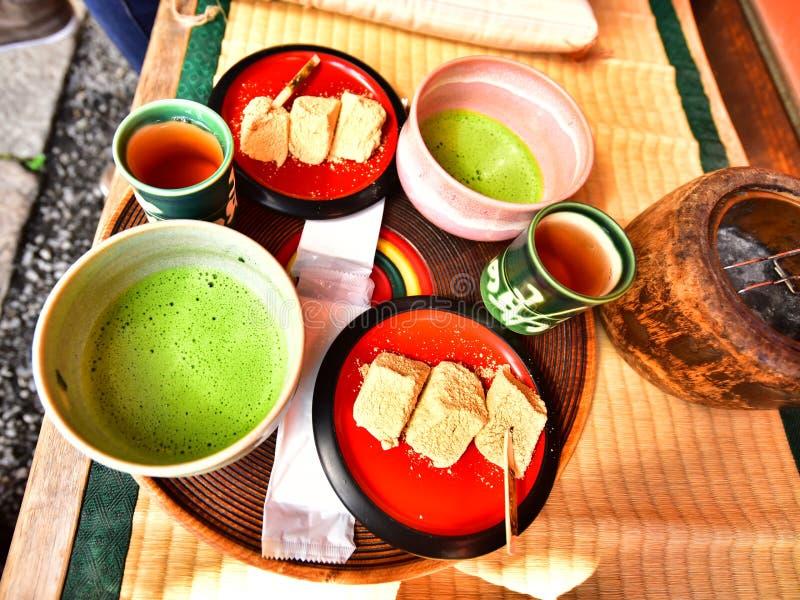 Matcha, japanische Lebensmittelkultur stockbild