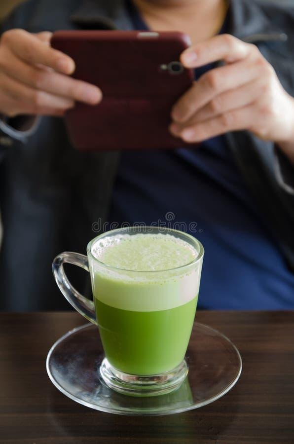 Matcha latte stock photos