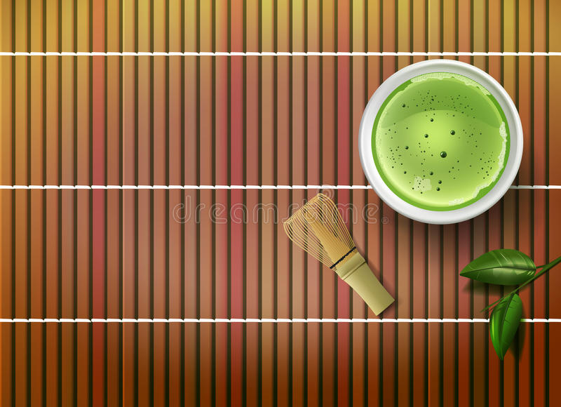 Matcha tea stock illustrationer