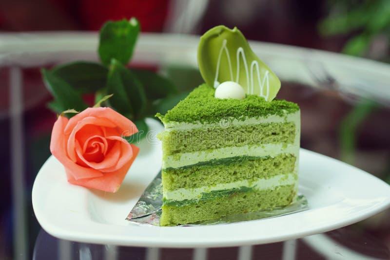 Download Matcha Tortowa Zielona Herbata Obraz Stock - Obraz złożonej z lodowacenie, tort: 57663789